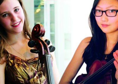 Mari Coetzee, cello and Angela Ryu, violin