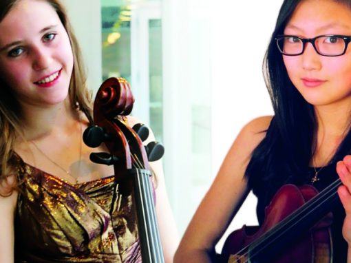 Mari Coetzee, cello and Angela Ryu, violin