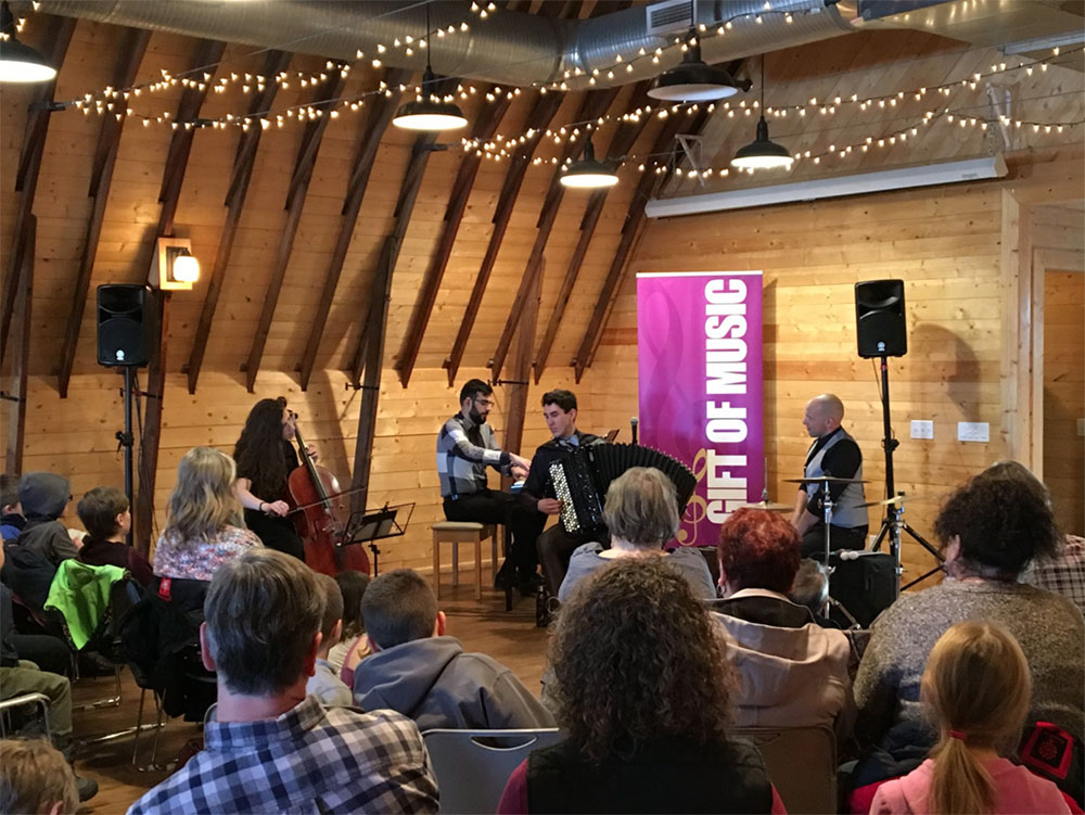 Ladom Ensemble played a music outreach event at the Sheppard Barn in High River.