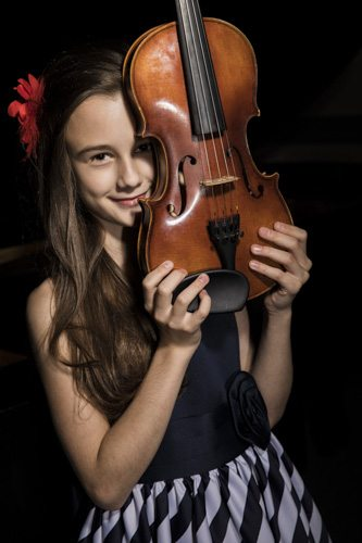 Anna Stube, violinist, performed for High River Gift of Music